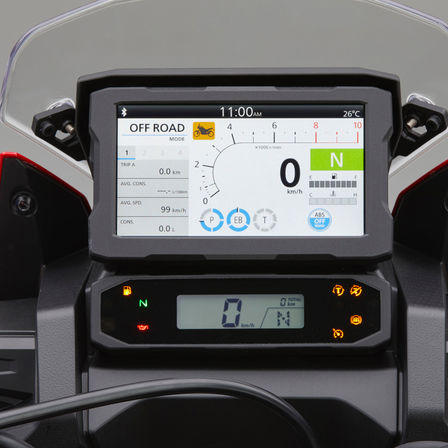 Honda Africa Twin, zoom on TFT display Apple CarPlay®