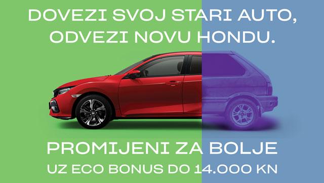 Honda u akciji PROMIJENI ZA BOLJE – ECO BONUS